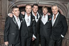 Excited: Martin says he can't wait to be back on stage with the group...