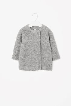 Double-breasted wool coat - Grey - Girls - COS NL