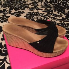 Ugg Wedges Uggs wedges. Good condition. Very comfortable. Size 9.5 UGG Shoes Wedges