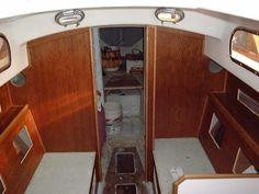 Pearson Triton #381 Glissando   Finish Trim and woodwork in the Cabin
