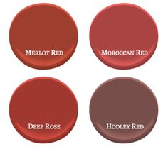 Benjamin Moore's bestselling red paint colors Red Paint Colors, Front Door Paint Colors, Favorite Paint Colors, Painted Front Doors, Gray Paint, Colores Benjamin Moore, Benjamin Moore Paint, Benjamin Moore Colors, Colorful Decor