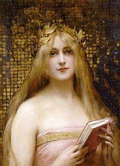 Rosamaria G Frangini | Art PaintingWomen | leon-françois-comerre- Girl_with_a_Golden_Wrath