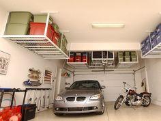 Overhead garage storage.