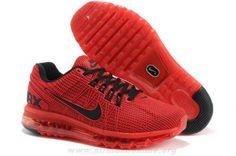 official photos 5515f e7479 Rouge Noir Nike Air Max 2013 KPU Hommes Chaussures Black Nikes, Nike Air Max  Mens