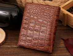 New Fashion Men Genuine Leather Wallets No Zipper Crocodile Male Vintage Money Purse Card & ID Holders Bags