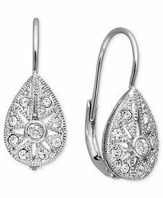 B. Brilliant Sterling Silver Earrings, Cubic Zirconia Star Drop (3/8 ct. t.w.)