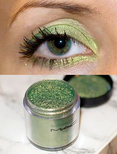 My first MAC eyeshadow pigment. I love green and this color is just amazing :) I am looking forward using it in combination with MAC Club.  PS: Excuse the contact lens :P   http://karistirsepeti.com