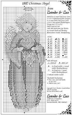 Resultado de imagen para lavender and lace cross stitch patterns free Xmas Cross Stitch, Cross Stitch Angels, Cross Stitch Love, Cross Stitch Charts, Cross Stitch Designs, Cross Stitching, Cross Stitch Embroidery, Cross Stitch Patterns, Modern Embroidery
