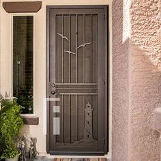 Lighthouse Iron Security Door - First Impression Ironworks Iron Gates, Iron Doors, Entry Doors, Front Entry, Entryway, Steel Security Doors, Beautiful Front Doors, Custom Gates, Texas Star