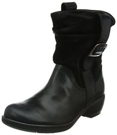 Fly London MAHA, Damen Halbschaft Schlupfstiefel, Schwarz (Black 007), 35 EU - http://on-line-kaufen.de/fly-london/35-eu-fly-london-maha-damen-halbschaft-2
