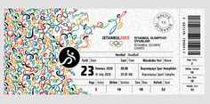 Istanbul 2020 Olympic Games Ticket Design by Ilker Ture, via Behance