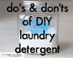 Let's discuss homemade laundry detergent. There seems to be a back and forth, love/hate relationship when regarding homemade detergent. I have been making my own detergent for almost 3 years now an...