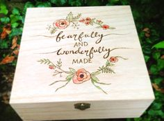 Special keepsake box, large wooden box, special quote, christening gift, baptism gift, gift for girls, Christmas box, Christian gift, baby