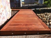 Deck Mt Martha Australia, Ground Up Garden Renovators Landscaper Pakenham www.gardenrenovators.com.au Concrete Retaining Walls, Deck With Pergola, Butcher Block Cutting Board, Decks, Melbourne, Up, Building, Deck, Buildings