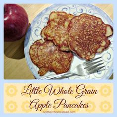Apples make this Little Whole Wheat Apple Pancakes Recipe extra special. Pancakes can be made healthy, too. With whole grain, buttermilk and coconut oil.