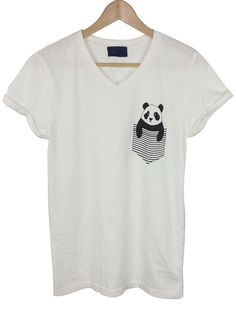panda pocket graphic shirt