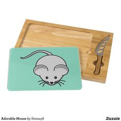 Adorable Mouse Rectangular Cheese Board