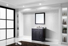 Search results for: 'virtu usa 30 talisa single square sink bathroom vanity in espresso with italian carrara marble top' Double Sink Vanity, Single Bathroom Vanity, Vanity Sink, Bath Vanities, Small Bathroom, Master Bathroom, Bathrooms, Large Framed Mirrors, Round Sink