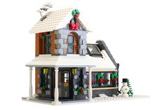 https://flic.kr/p/ot3usN | Winter Greenhouse | A little greenhouse I created to go along with my LEGO Winter Village sets.