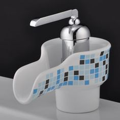 Waterfall Bathroom Sink Tap with Ceramic Spout - : Cheap Taps Sale Online Store- Offering All Kinds of Taps Discount Bathroom Faucets, Bathroom Sink Taps, Bath Taps, Kitchen Faucets, Waterfall Taps, Wall Mounted Basins, Ceramics, Ranch