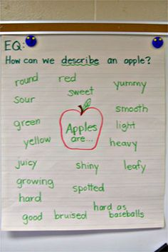 Apples are . . . or An Apple is . . . use to intro Apple Theme