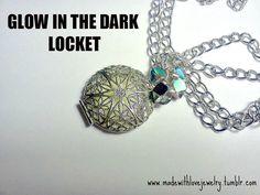 GLOW in the DARK Locket Necklace by Shanana on Etsy, $15.00