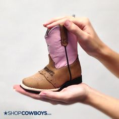 New Arrival: Adorable Cowboys Toddler Classic Pink Western Boots!