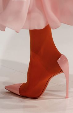 Shoes at Christian Dior Haute Couture S/S 2013 - Dior Boots - Trending Dior Boots. - Shoes at Christian Dior Haute Couture S/S 2013 Dior Haute Couture, Couture Shoes, Couture Dresses, High Heels Boots, Shoe Boots, Shoes Heels, Dior Shoes, Pink Heels, Nude Heels