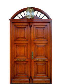 Puerta exterior en madera vieja hoja m s fijo for Modelos de puertas de ingreso