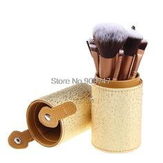 Brand pincel maquiagem 12 pcs Professional Makeup Brush Set Cosmetic Tube Make Up brushes Set With PU Storage bucket