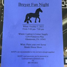 Don't miss out on this great event for kids and parents! #breyerhorses #paintyourownbreyer #LudwigsCornerSupply