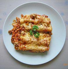 Cannelloni mit Hackfleisch - Schinken - Füllung