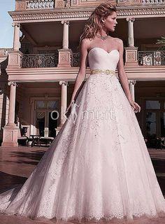 Abiti da Sposa con Perline Elegante Mezza Coperta Cuore Vintage