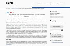 #UniPay expands consumer #fraudprotection functionality by the integration with #Subuno #FraudProtection Platform http://unipaygateway.com/en/unipay-gateway-press-releases/unipay-platform-adds-consumer-fraud-capabilities-for-web-commerce-merchants