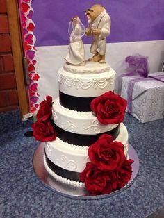 My Beauty and the Beast wedding cake