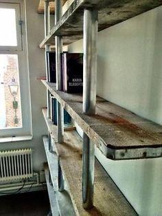 ≥ industrieel design boekenkast: steigerhout & steigerbuis. - Kasten | Boekenkasten - Marktplaats.nl