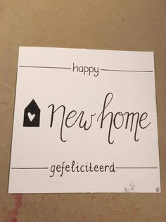Homemade Gifts, Diy Gifts, Happy New Home, Bullet Journal Writing, Brush Lettering, Diy Cards, Wedding Cards, Texts, Diy And Crafts