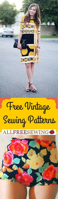 Free vintage sewing patterns