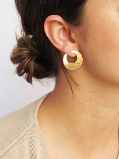 Hammered Brass Earrings SOLD