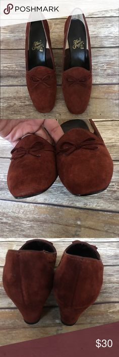 "3 for $20 🚨Hush Puppies Faux Suede Shoes Hush Puppies Faux Suede Shoes EUC. Heel height 2.25"" Hush Puppies Shoes"
