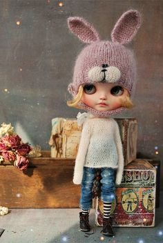 Your place to buy and sell all things handmade Pretty Dolls, Beautiful Dolls, Ooak Dolls, Blythe Dolls, Felt Dolls, Paper Dolls, Knitting Paterns, Bunny Hat, Angel Crafts