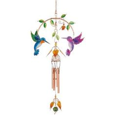 Carson Home Accents Wireworks Double Hummingbird Chime