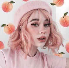 21 Pretty Pastel Pink Hair Color Ideas in 2020 Kawaii Makeup, Cute Makeup, Pretty Makeup, Makeup Looks, Hair Makeup, Kawaii Hair, Aesthetic Hair, Aesthetic People, Aesthetic Makeup