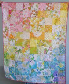 vintage sheet quilt. I need more sheets!