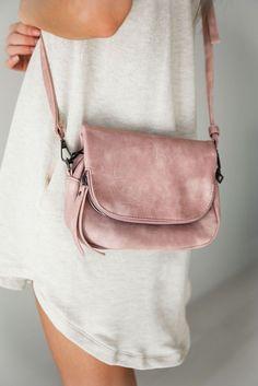 mauve handbag purse suede