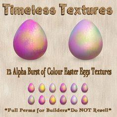 TT 12 Alpha Burst of Colour Easter Eggs Timeless Textures