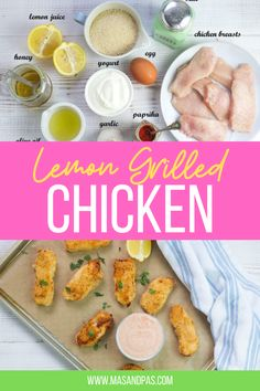 These grilled chicken tenders are marinated in a lemon marinade and coated in a crunchy breadcrumb crust, then grilled to golden brown perfection. The ultimate easy main course for summer time! Chicken tenders are inexpensive, quick cooking and are perfect to toss on the grill. #grilledchicken #summerrecipe #familylunch #familydinner #dinnerrecipes #chickenrecipes Easy Family Meals, Dinners For Kids, Healthy Meals For Kids, Kids Meals, Chicken Tenders Healthy, Grilled Chicken Tenders, Healthy Grilling, Toddler Meals, Kid Friendly Meals