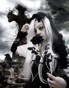 Black rose of grief by Blackmoons32.deviantart.com on @deviantART