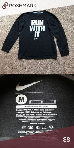 Nike Run With It Long Sleeve Tee Size - Youth Medium  Brand - Nike  Condition - gently used - light wash wear  Bundle to save! Next day shipping ✈️ Nike Shirts & Tops Tees - Long Sleeve