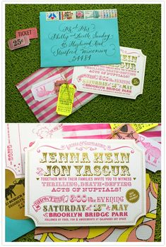 circus wedding invites